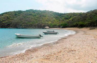 Una de las playas del Parque Tayrona.