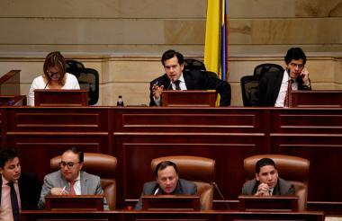 Aspecto de una plenaria de la Cámara de Representantes en Bogotá.