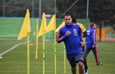 Pardo durante un entrenamiento con Colombia.