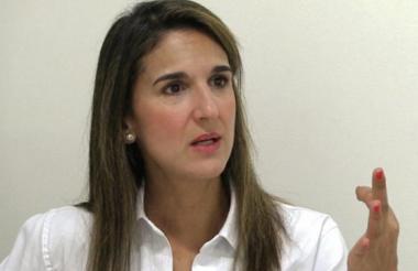 La ministra de Educación, Yaneth Giha Tovar.