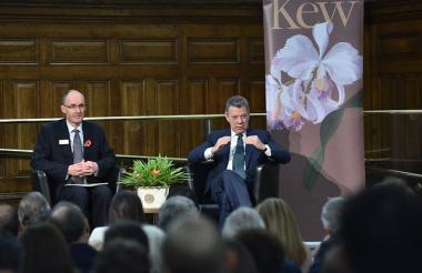 El presidente Juan Manuel Santos durante el evento en Londres.