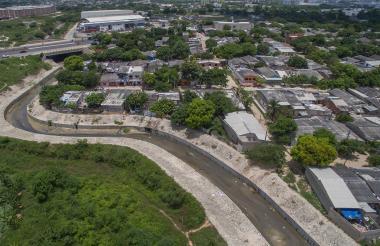 Arroyo El Platanal, ubicado en el municipio de Soledad.