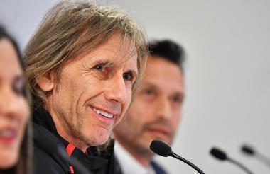 El técnico de Perú Ricardo Gareca.
