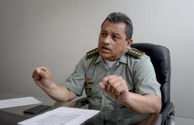 El general Jorge Nieto durante la entrevista con EL HERALDO.