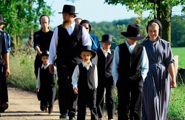Miembros de la comunidad Amish.