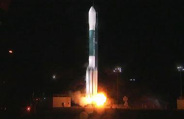 El satélite fue lanzado en un cohete Delta II.