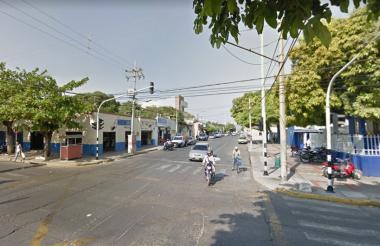 Calle 17 en Valledupar.