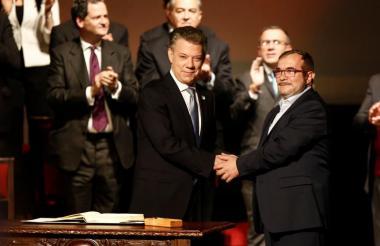 Firma del Acuerdo Final en el Teatro Colón el 24 de noviembre de 2016.
