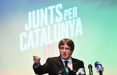 El presidente catalán cesado, Carles Puigdemont.
