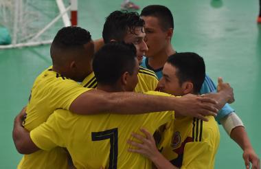 Integrantes de la Selección Colombia de futsal.