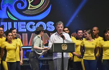 El presidente Santos fue el encargado de clausurar los Juegos Bolivarianos