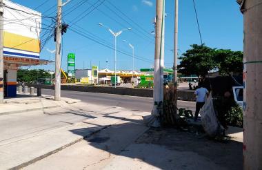 Lugar donde ocurrió la riña en el barrio La Pradera.