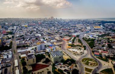 Panorámica de Barranquilla, donde se aprecia gran parte de la infraestructura de la ciudad.