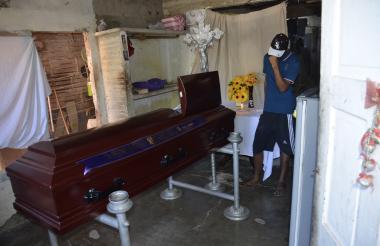 Pedro Manjarrés fue velado en su casa del barrio Villa Norte de Puerto Colombia.