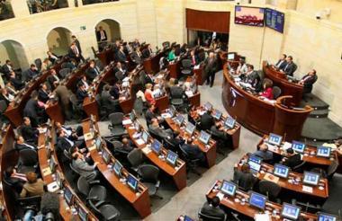 Aspecto de la Plenaria del Senado