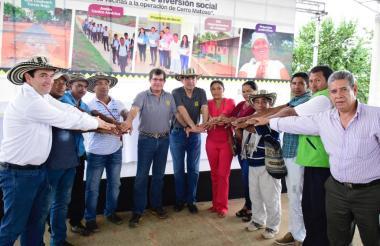 El nuevo pacto de inversión fue formado entre as directivas de Cerro Matoso y líderes de las comunidades en área de influencia.
