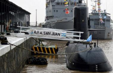 Submarino argentino ARA San Juan, con el que se perdió el contacto el pasado 15 de noviembre cuando operaba a la altura de Puerto Madryn, con 44 tripulantes a bordo, entre ellos una mujer.