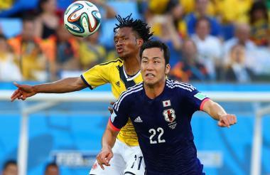 Colombia y Japón en el Mundial de Brasil.