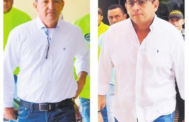 Nilson Navaja Olivare, alcalde de Coveñas y Freddy Rivera Pérez, alcalde de Los Palmitos.