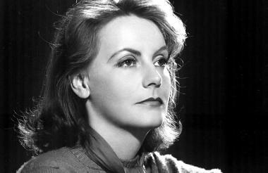 La actriz Greta Garbo, quien falleció en 1990.