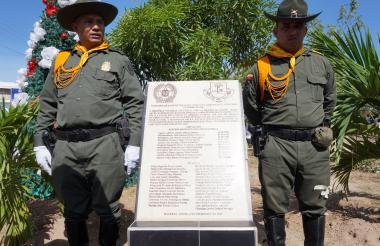 Monumento en homenaje a las víctimas del conflicto en Galeras.