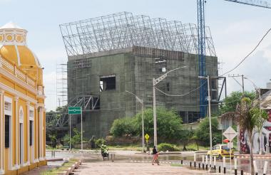 Construcción de la nueva sede del museo.