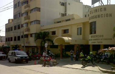 Fachada de la clínica la Asunción.