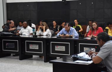 Diputados del Atlántico durante la sesión.