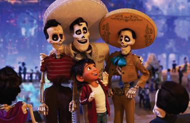 Escena de la película animada de Pixar, 'Coco'.