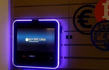 Un cajero automático de bitcóin en Europa.