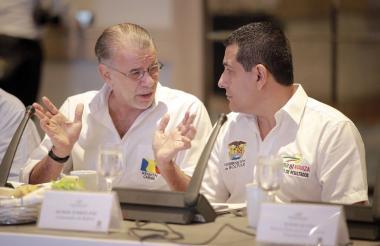 Los gobernadores de Atlántico, Eduardo Verano y de Bolívar, Dumek Turbay.