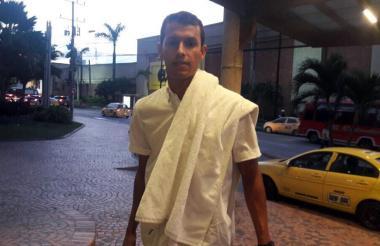Andrés Ricaurte arribó este martes a Barranquilla.