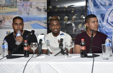 Héctor Rondón, Julio Teherán y José Quintana.
