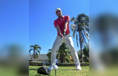 El golfista bogotano, de 24 años, Juan Sebastián Muñoz.