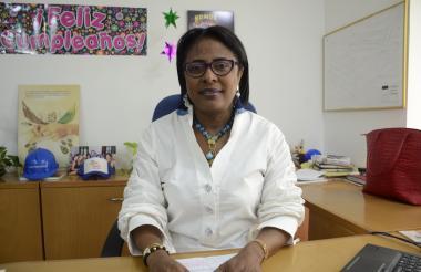 Betty García, gerente de Electricaribe.