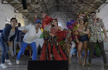 Grabación del video de 'Siéntete más barranquillero' con los artistas.