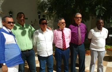 Vicente Periñán, rector de la Unisucre; Carlos Roble, rector de la Uniguajira; Jairo Torres Oviedo, rector de la Unicórdoba; Carlos Prasca, rector de la Uniatlántico; Edgar Parra, rector de la Unicartagena; y Eduardo García Vega, rector de la Unichocó.
