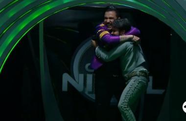 Santrich y Uribe celebrando tras pasar a la final.