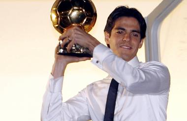 El brasileño Kaká se ganó el Balón de Oro en 2007.