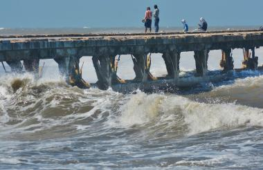 Primeros 200 metros del Muelle de Puerto Colombia que serán reconstruidos.