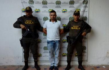 Pedro Villalba, alias 'Vegueta' o 'Carlos', capturado en Lorica.