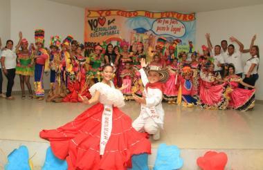 Laura Ospino y Samuel Quintero, reyes infantiles del Carnaval de la 44