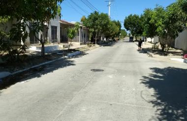 Sector del barrio Galapa donde ocurrió la riña que dejó un muerto.