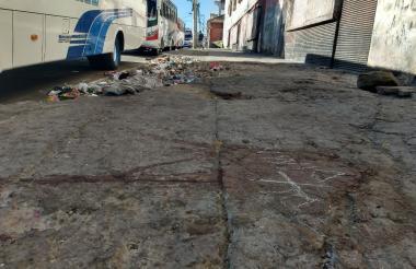 Sector del barrio San Roque donde se registró la riña entre los habitantes de la calle.