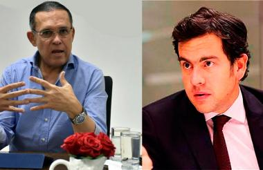 Los presidentes de Senado, Efraín Cepeda, del Partido Conservador, y de Cámara, Rodrigo Lara, de Cambio Radical.