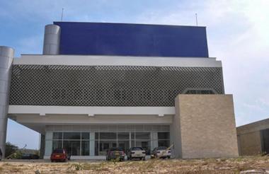 Fachada de la sede del canal regional Telecaribe.