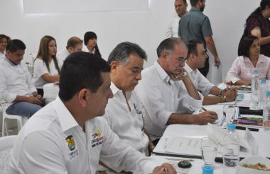 Los gobernadores de Bolívar, Sucre, Atlántico y Córdoba durante la sesión ordinaria del consejo directivo realizada la mañana del miércoles.