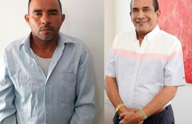 El presunto capturado junto al compositor Rafael Manjarrez.