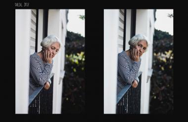 Dalia, la abuela de 85 años.