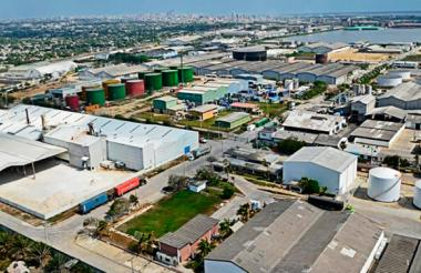 Panorámica de la Zona Franca de Barranquilla.
